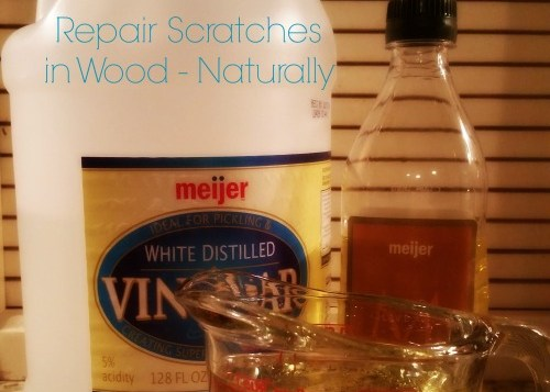 DIY Wood Scratch Remover