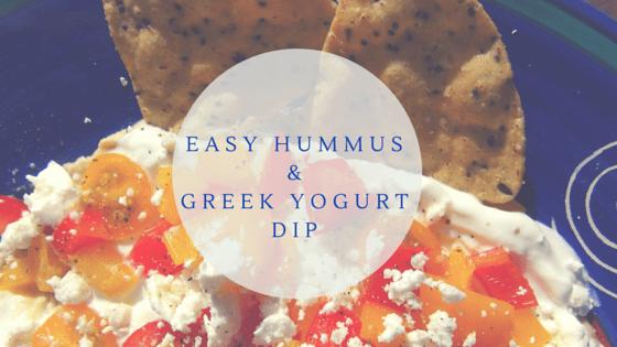Easy Hummus & Greek Yogurt Dip
