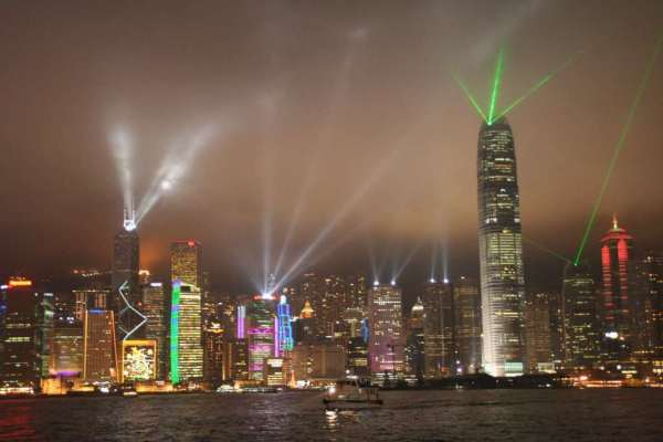 Hong Kong light pollution