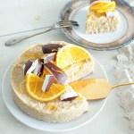 No-Bake Coconut Orange Quinoa Cake (Vegan + GF)