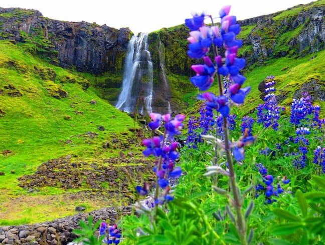 Bæjarfoss Waterfall iceland