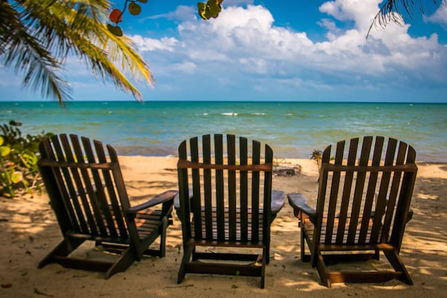 Beach Chairs at Hamanasi Dive Resort, Belize