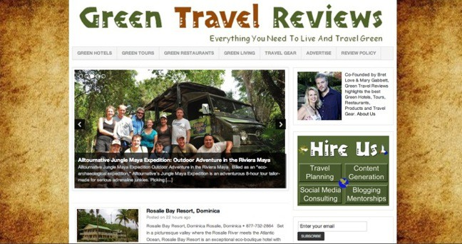 Green Travel Reviews Launch