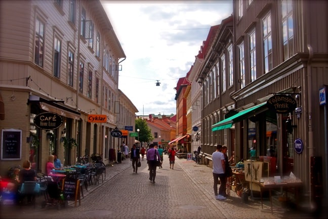 The Haga Old Town section of Gothenburg, Sweden