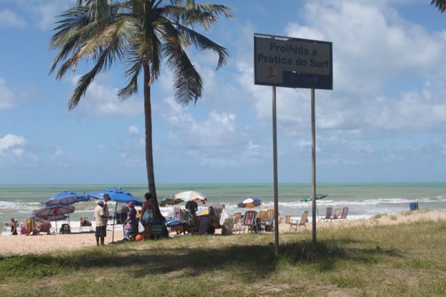 No Surfing Sign in Recife, Brazil