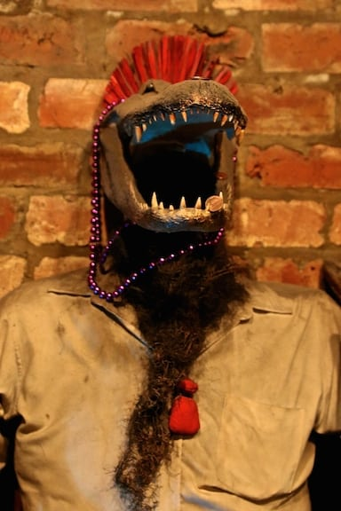 Rougarou statue at New Orleans Historic Voodoo Museum, Louisiana