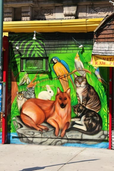 Wildlife Mural in the West Village