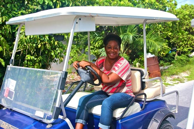 Embrace Resort Owner Nikki Ferguson in Staniel Cay