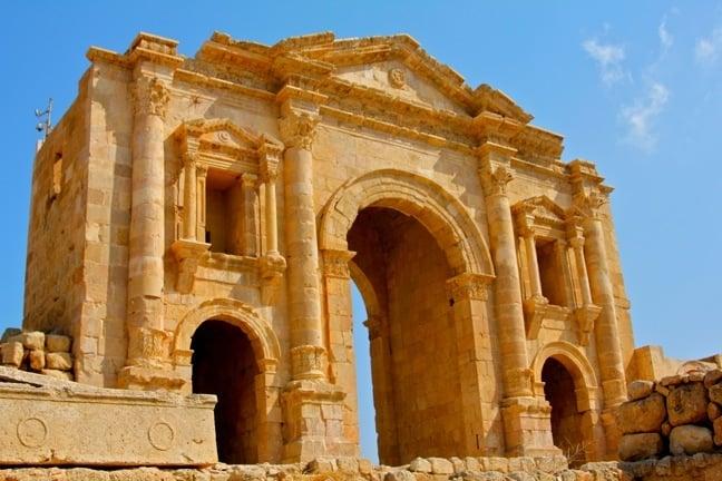 Hadrian's Arch at Jerash, Jordan