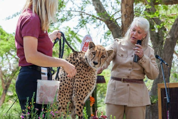 Joan Embery at the San Diego Zoo
