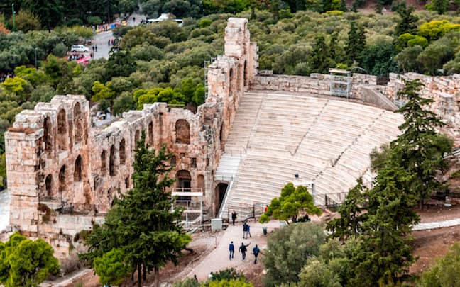 The Odeon of Herodes Atticus at the Acropolis of Athens