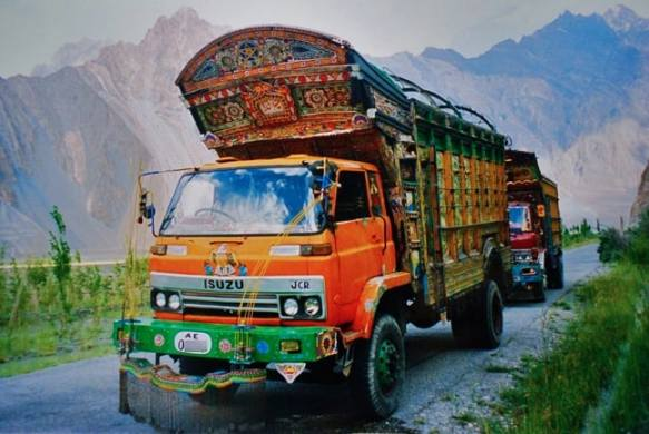 Pakistani Truck on Karakoram Highway