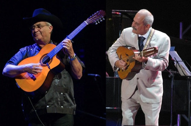 Orquesta Buena Vista Social Club's Eliades Ochoa and Barbarito Torres