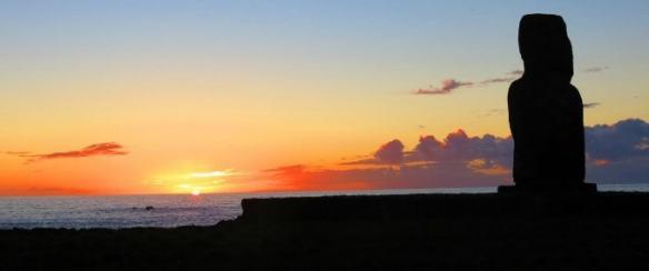 Rapa Nui National Park Easter Island- lone statue