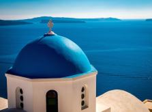 View of Neighboring Islands from Oia, Santorini