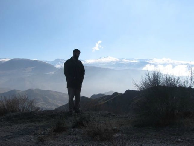 Staring at the Sierra Nevada in Andalusia