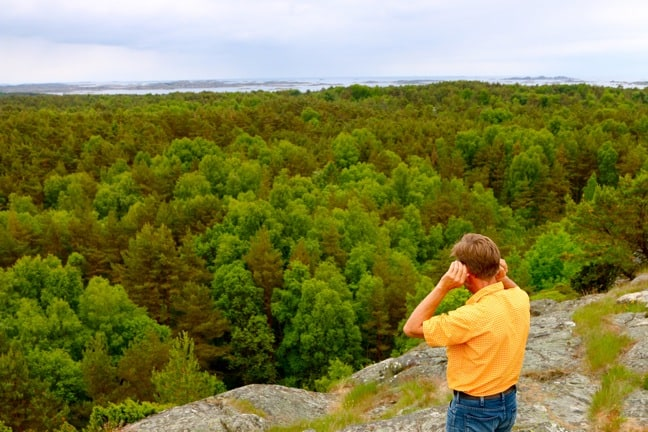 Stefan von Mothmer Listens to the Sounds of the Forest on South Koster Island, Sweden