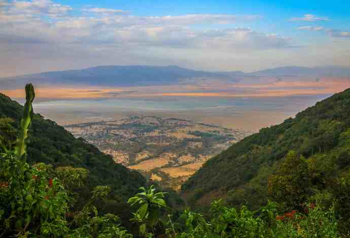 Sunset On The Ngorongoro Crater, Tanzania