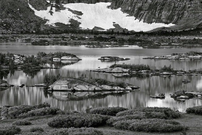 Ansel Adams Wilderness, California. Banner Peak, Thousand Island Lake, sunrise