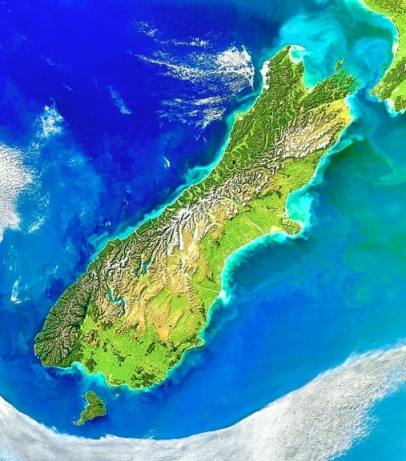 Satellite Photo of New Zealand's South Island