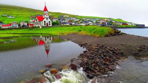 Ginanes Village on Vagar Island