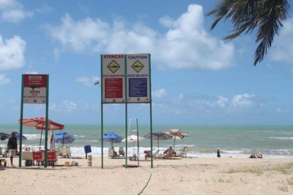 Shark Warning Signs in Recife, Brazil