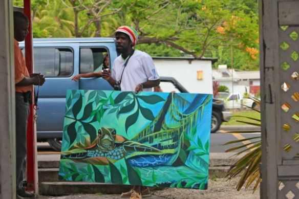 Dominican Turtle Art