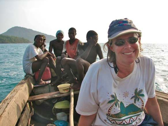 Megan Epler Wood With Locals in Sierra Leone, 2005