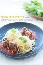 Spaghetti with Pistachio Meatballs