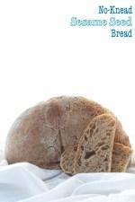 No-Knead Sesame Seed Bread