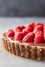 Almond Chocolate Raspberry Tart