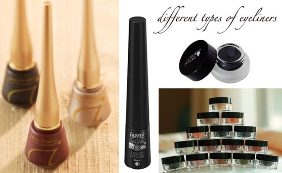 different natural eyeliners
