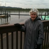 Out for her 94th birthday outing to the water front.