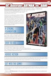 DC Adventures Quickstart: Batman vs. Bane