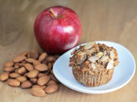 vegan almond apple cinnamon muffins