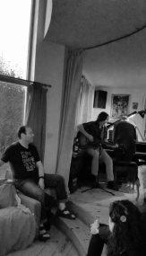 David Corley and Chris Brown at Harmony Hall