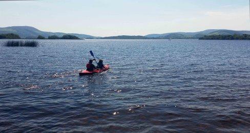 Kayaking on Lough Derg