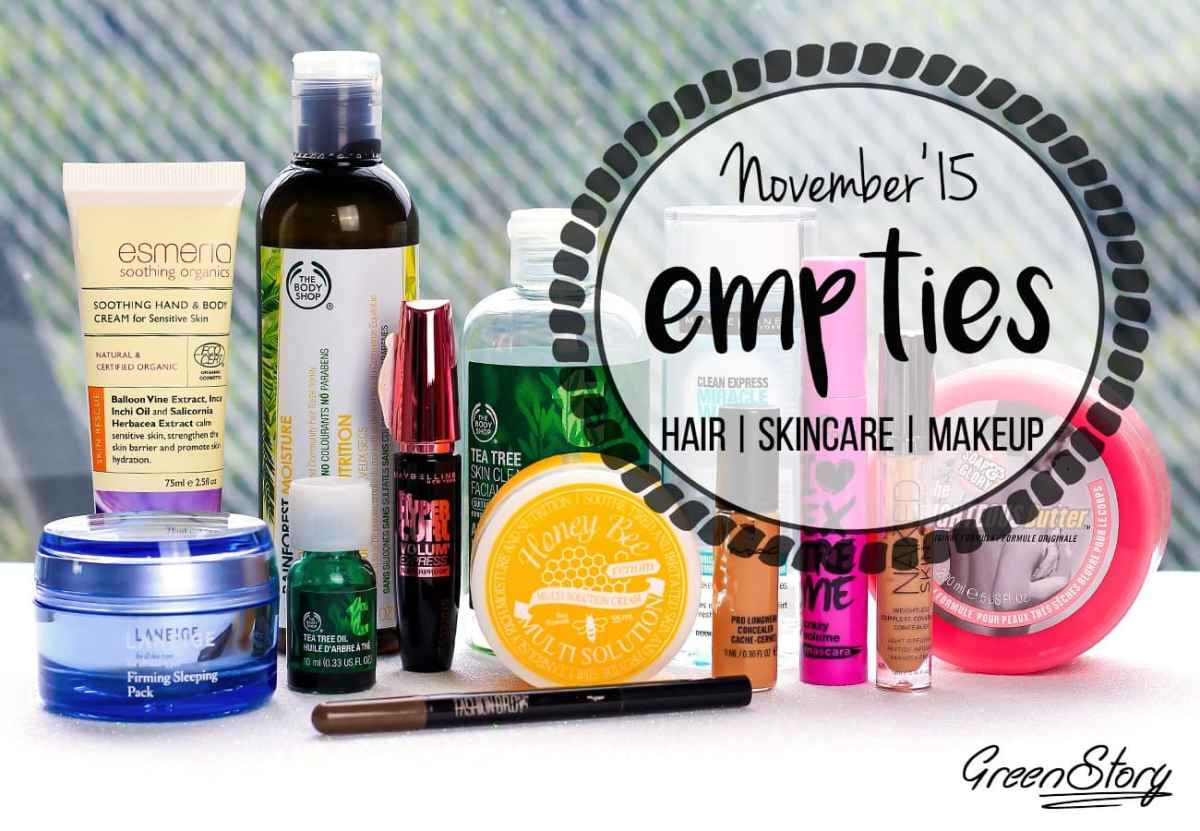 Beauty Empties November'15 | Hair, Skin, Makeup