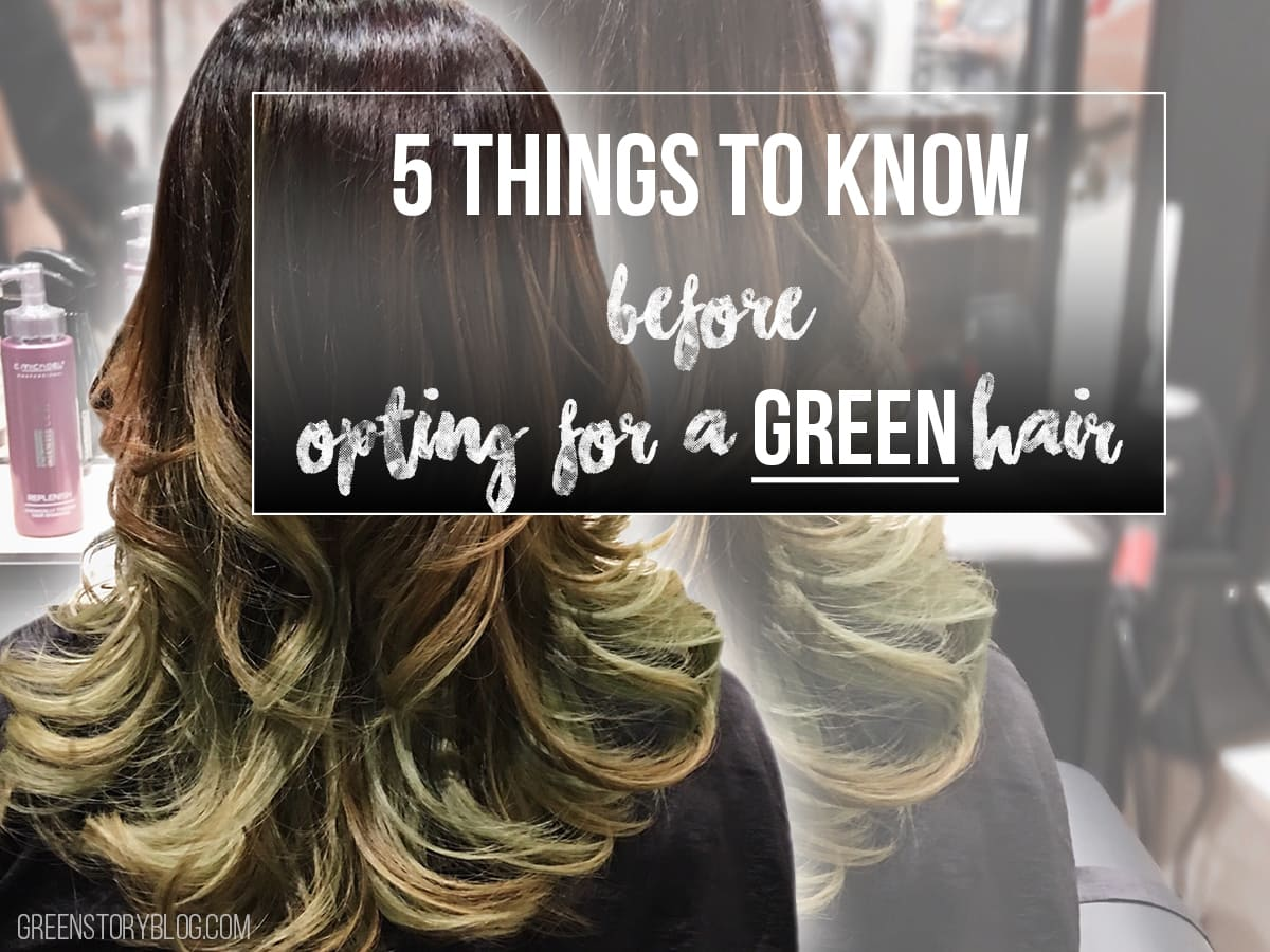 5 things to know before opting for a GREEN hair | Hair Color Idea
