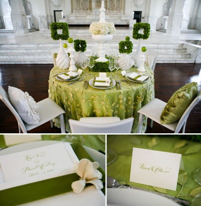 Green + White Wedding Ideas   Green Wedding Shoes ...
