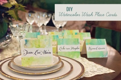 DIY: Watercolor Wash Place Cards