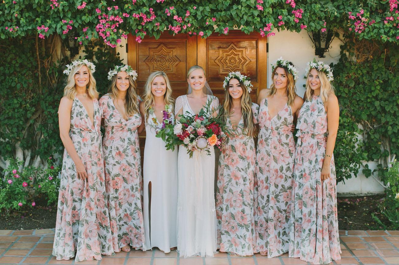 travel inspired hacienda wedding taylor kevin bridesmaid wedding dresses Reformation Bridesmaid Dresses