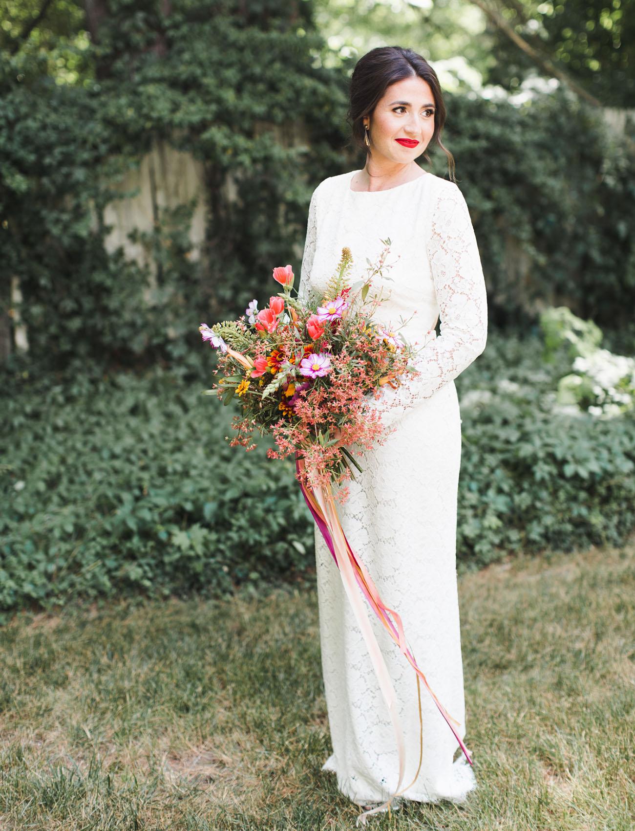 fruit inspired backyard wedding francesca matt backyard wedding dresses Houghton Wedding Dress