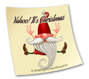 Stix. Elf Yahoo it's Christmas