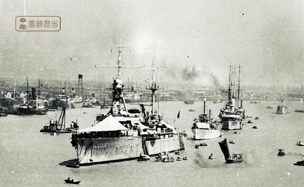 Warships in the Whangpoo