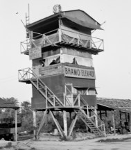 """Late 1940s, tower at """"BAMO."""" (I'm not sure where that is. Does anyone know?)"""