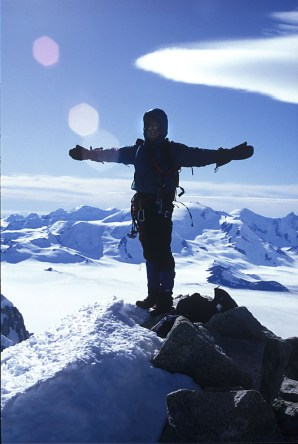on the summit of Fitzroy, 1994