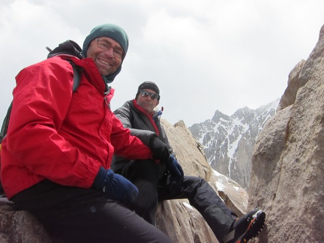 With Mohammad Bahrevar making a recon of Alam Kuh's north face