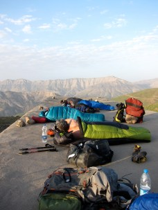 bivy position on the roof