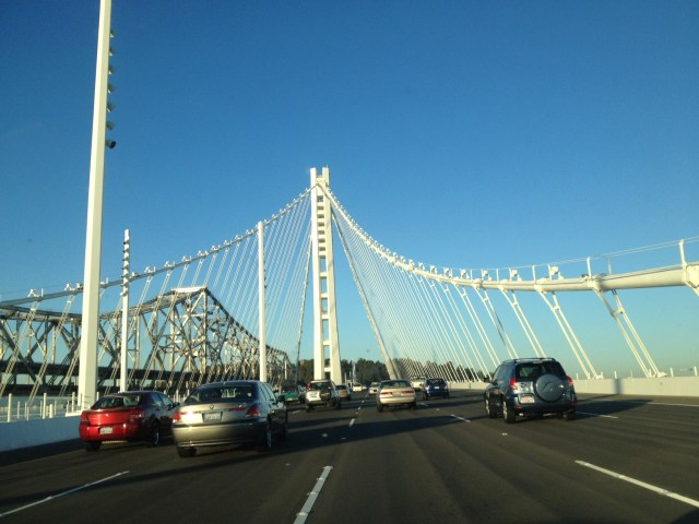 My first trip over the new Bay Bridge